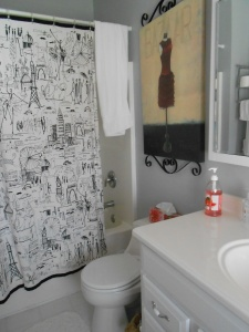 One of two full bathrooms upstairs.  There is also a powder room downstairs.