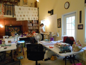 Another view of the sewing area.